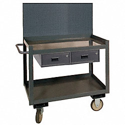 Mobile Workctr w/Pegbrd, 1200 lb., 36 In.W