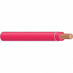 Wire, Building, Strd, 12AWG, MTW, Red, 500Ft