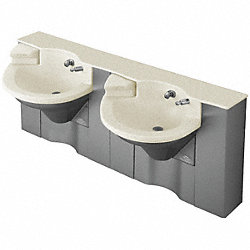 Hands Free Sink, 66x30x37, Oat