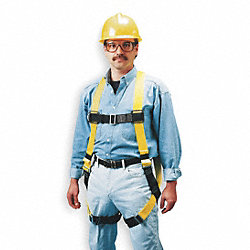 Full Body Harness, Universal, 400 lb., Ylw