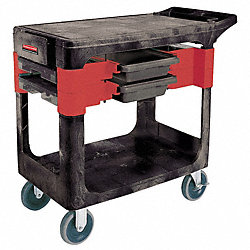 Trade Cart/Service Bench, 38 In. L, Black