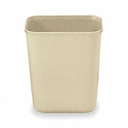 Wastebasket, Fire Safe, Beige, 10 G