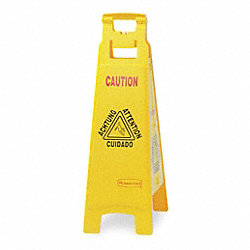 Sign, Floor, Caution