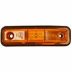 Clearance/Marker Lamp, Rectangle, Ylw, PK 2
