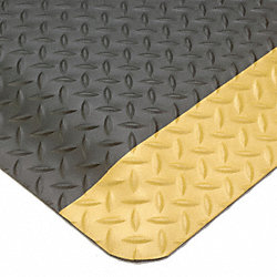 Anti-Fatigue Mat, Diamond, Blk, 3 ft x 5 ft