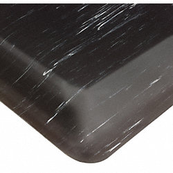Anti-Fatigue Mat, PVC, Blk, 2 ft x 3 ft