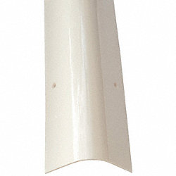 Corner Guard, OAH48In, White, Rounded Angle