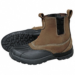 Winter Boots, Mens, 10, Pull On, Plain, 1PR