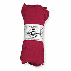 Shop Towels, Cotton, Red, PK12