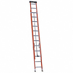 Ext Ladder, Fiberglass, 24 ft., IA