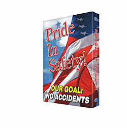 Sign, 24x18 In, Pride In Safety Our Goal