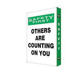 Caution Sign, 24 x 18In, BK and GRN/WHT, AL