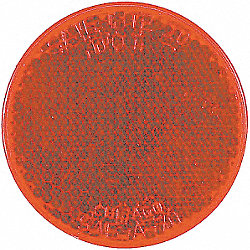 Reflector, Adhesive, Red, Round, 2 In, PK 10