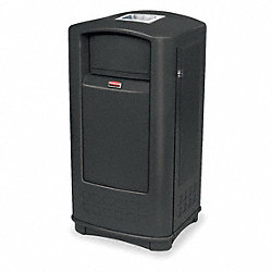 Receptacle, Ash/Trash Jr., Black, 35G