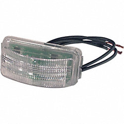 License Plate Lamp, Rectangle, LED, Clear