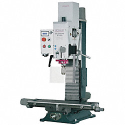 CNC Gear Head Mill/Drill, 17 In, 1Hp, 115v