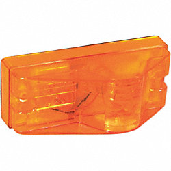 Turn Lamp, Rectangle, 6 In, Yellow