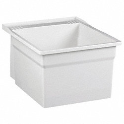 Laundry Tub, Wall Mt, Includes Bracket, Wh