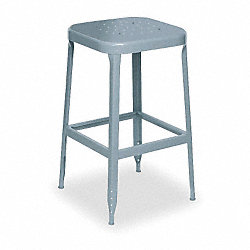 Square Stool, 400 lb., Gray, PK 2