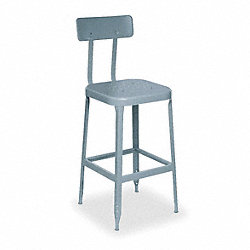 Square Stool with Backrest, 400 lb., PK 2