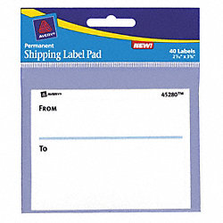 Shipping Labels, 3 In. H x 4 In. L, PK6