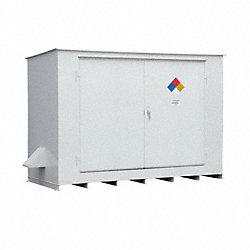 Storage Building, 10x55 Gal. Cap, White