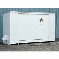 Storage Building, 12x55 Gal. Cap, White
