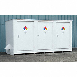 Storage Building, 14x55 Gal. Cap, White