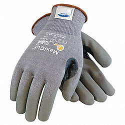 Cut Resistant Gloves, Gray, XL, PR