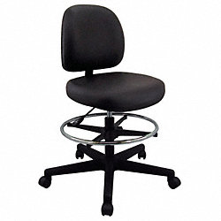 Pneumatic Task Chair, 300 lb., Black