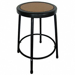 Round Stool, Natural Wood,