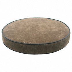 Stool Cushion, Round Padded, Brown