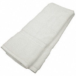 Hand Towel, 13x13 In, White, Pk 12