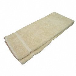 Bath Towel, 27x54 In, Beige, Pk 12