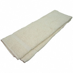 Bath Towel, 24x50 In., Beige, Pk 12