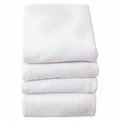 Baby Blanket, 30x40 In., White, Pk 6