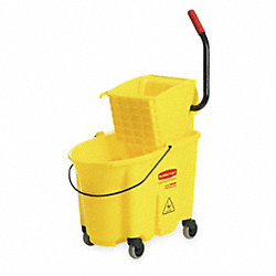 Mop Bucket and Wringer, 35 qt., Yellow