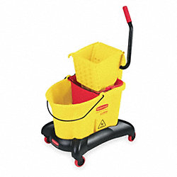 Mop Bucket and Wringer, 35 qt., Side Press