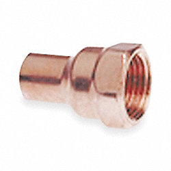 Adapter, 1/2 In, Wrot Copper