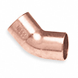 Elbow, 45 Deg, 3/4 In, Wrot Copper