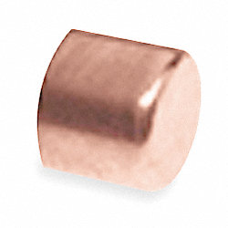 Cap, 1/2 In, Wrot Copper
