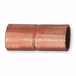 Coupling, Rolled Tube Stop, 1/2 In, Copper
