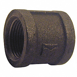 Coupling, 1/4 In, NPT, Black Iron