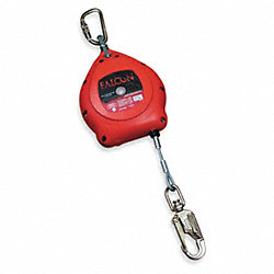Self-Retracting Lifeline, 30ft, Red, 400lb