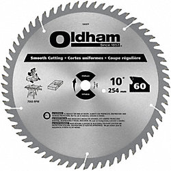 Circular Saw Bld, Crbde, 10 In, 60 Teeth