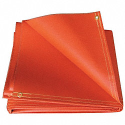 Welding Curtain, Silicone, 6x6, Orange