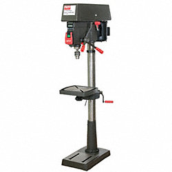 Floor Drill Press, 17 In, 1 HP, 120/240