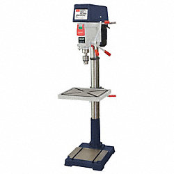 Floor Drill Press, 20 In, 1.5 HP, 120/240