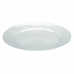 Disposable Plate, 6 In, Clear, PK 240