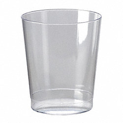 Disposable Tumbler, 7.5 Oz, Clear, PK 500